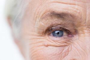 Close up eye of a senior woman