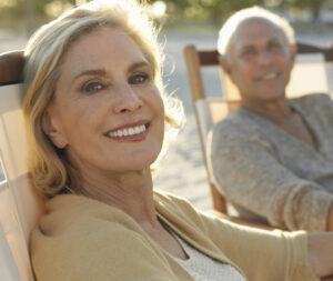 Healthy middle age couple relaxing together