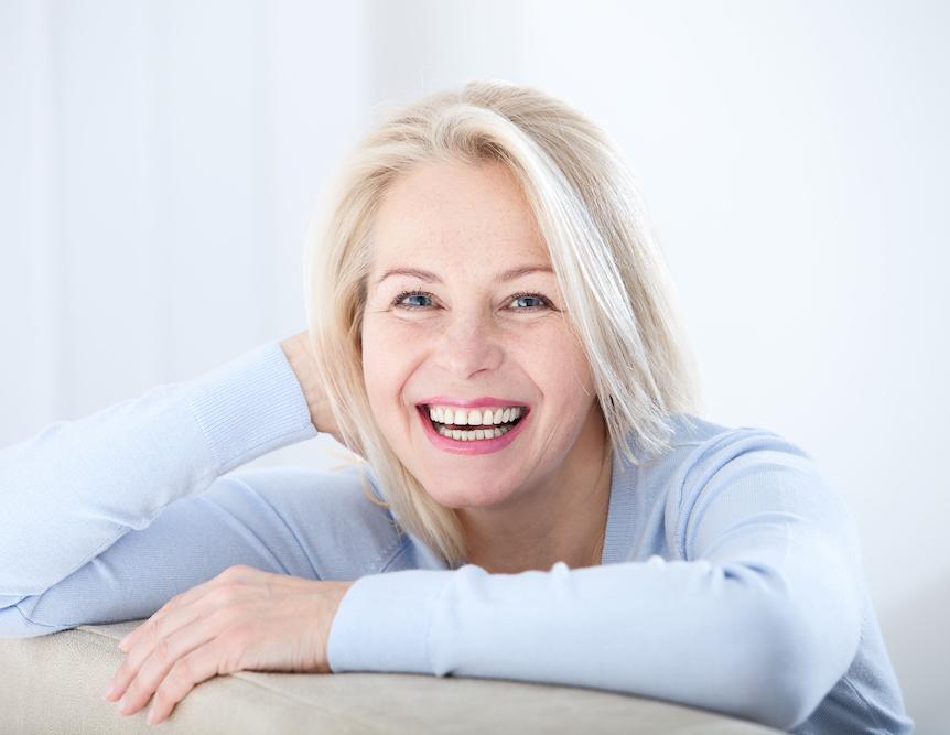Gorgeous senior woman relaxing